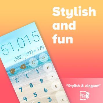 Stylish Calculator Free - CALCU™ screenshot 1