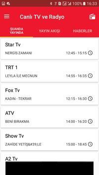Canlı TV Rehberi Mobil Radyo Türkiye screenshot 1