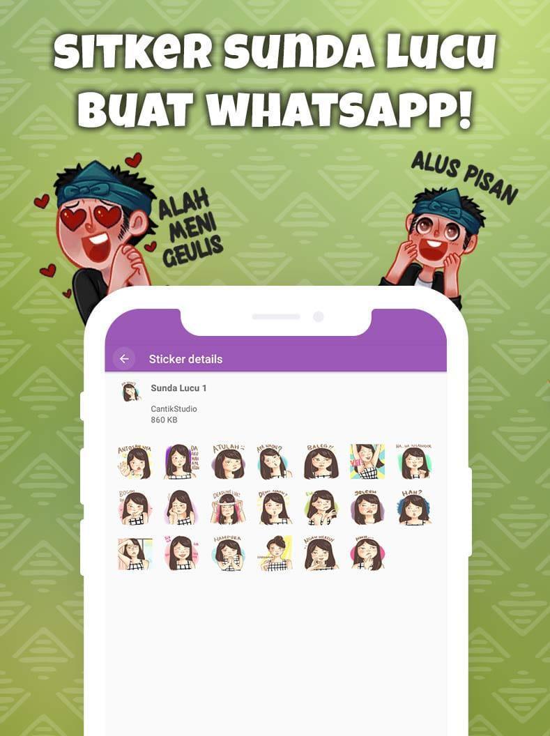 Stiker Sunda Lucu Terbaru WAStickerApps For Android APK