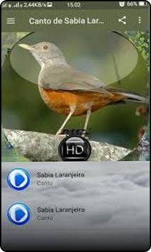 Canto de Sabia Laranjeira 스크린샷 2