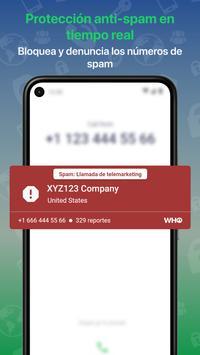 Who - ID de Llamadas, AntiSpam, Busca Pers y Tlfs captura de pantalla 1
