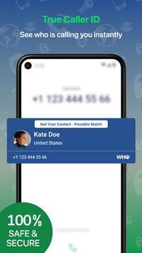 Who - Caller ID, People & Phone Lookup, Spam Block plakat