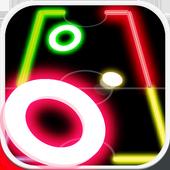 Air Hockey Glow Mania - Fingers Challenge 1v1 icon