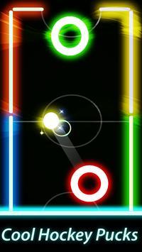 Air Hockey Glow Mania - Fingers Challenge 1v1 screenshot 1