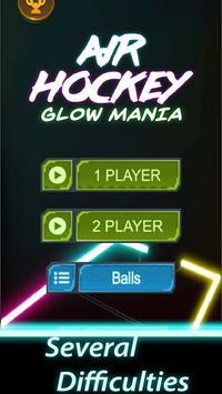 Air Hockey Glow Mania - Fingers Challenge 1v1 screenshot 2