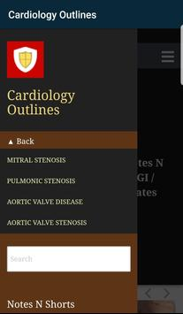 Cardiology Outlines: Notes N Shorts: PG MD/MS Exam screenshot 1