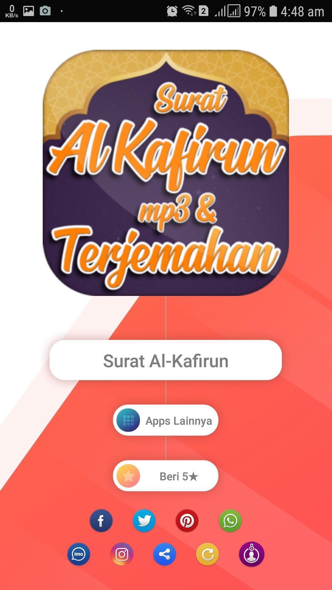 Surah Al Kafirun Mp3 Serta Terjemahan For Android Apk Download