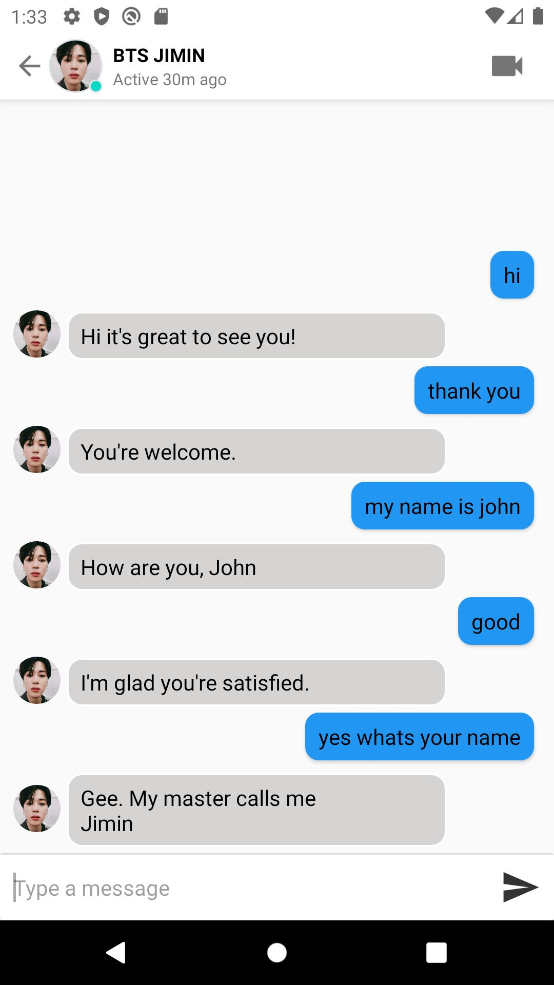 Facebook fake chat messages