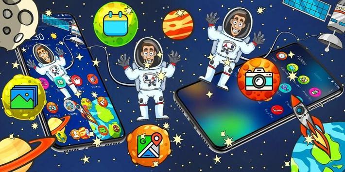 Cartoon galaxy astronaut theme screenshot 3