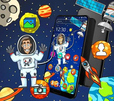 Cartoon galaxy astronaut theme screenshot 1