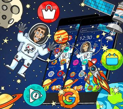 Cartoon galaxy astronaut theme screenshot 2