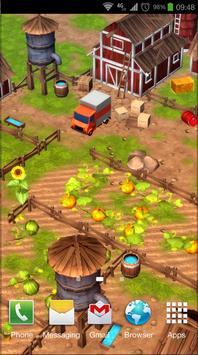 Cartoon Farm 3D Live Wallpaper poster