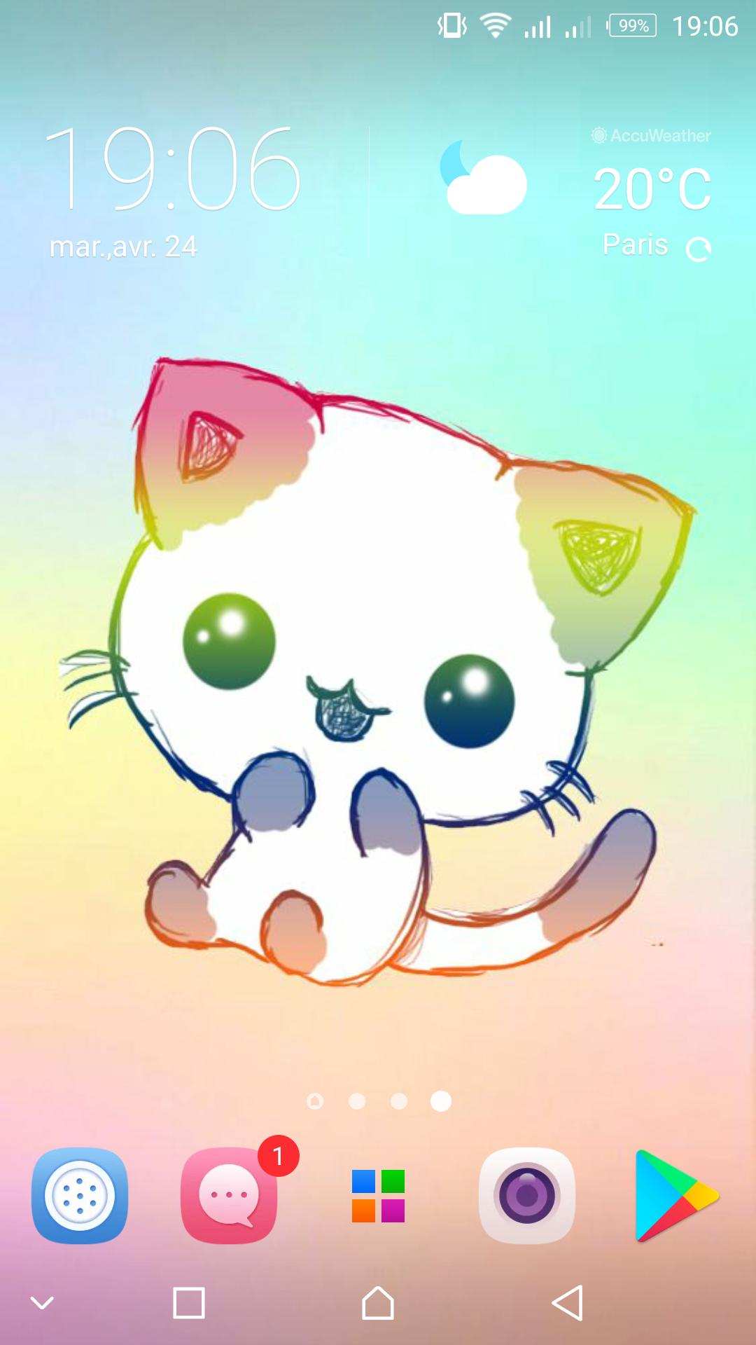 Cute Cat Wallpapers Kawaii Kitten Backgrounds For Android Apk Download