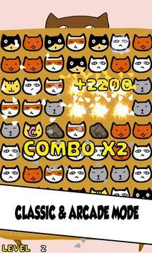 Cat Match Three Puzzle screenshot 2