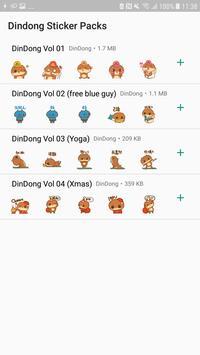 DinDong WhatsApp sticker постер