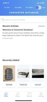Catalytic Converter Database plakat