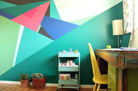 Idée De Peinture Murs Géométriques De Salle Pour Android