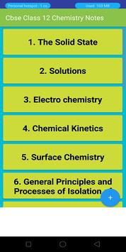 Class 12 Chemistry Notes & Study Materials 2019-20 for Android - APK