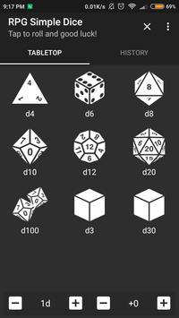 RPG Simple Dice 海報