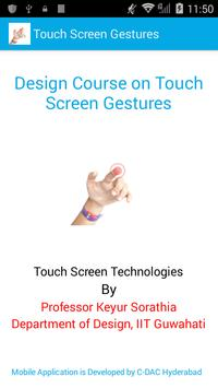 Touch Screen Gestures poster