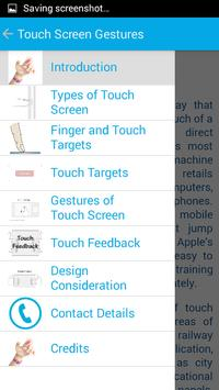 Touch Screen Gestures screenshot 1