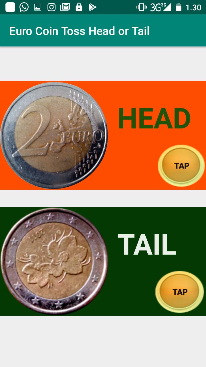Euro Coin Toss Head or Tail for Android - APK Download