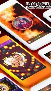 Fire Magical Video Maker With Music screenshot 1