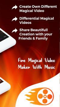Fire Magical Video Maker With Music screenshot 3