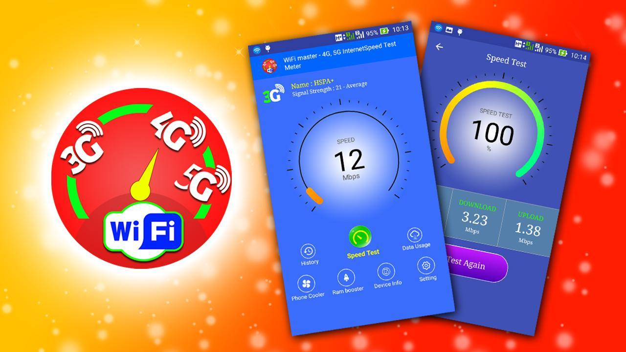 Wifi Master 4g 5g Internet Speed Test Meter For Android