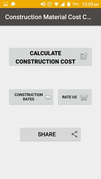 Construction Cost Calculator poster