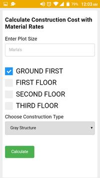 Construction Cost Calculator screenshot 1