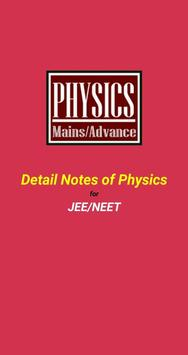 Detail Notes of Physics for JEE / NEET poster
