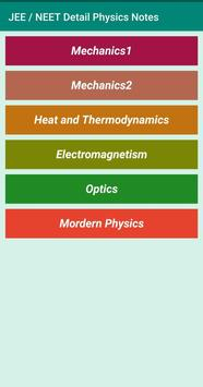 Detail Notes of Physics for JEE / NEET screenshot 1