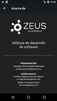 Zeus Académico screenshot 4