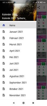 Kalender 2021 poster