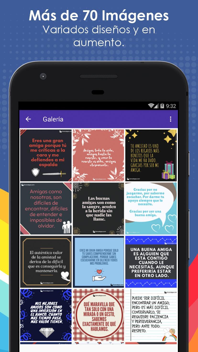 Frases Bonitas Para Mi Mejor Amiga для андроид скачать Apk