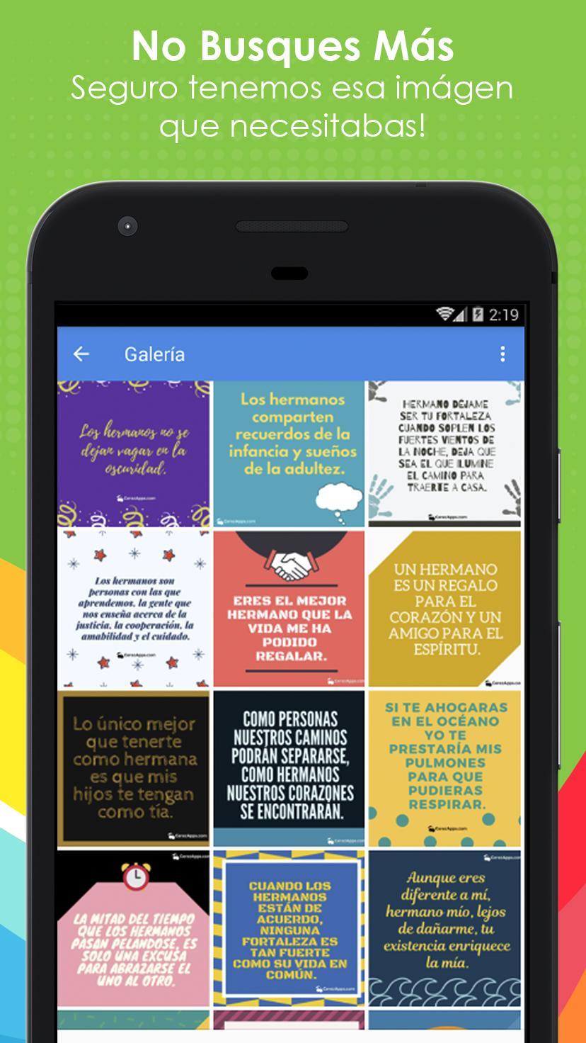 Frases Bonitas Para Hermanos для андроид скачать Apk