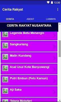 Cerita Rakyat Nusantara Indonesia Lengkap 2019 screenshot 1