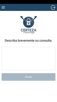 Certeza Control Legal poster