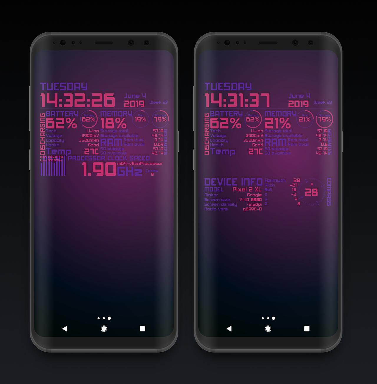 Device Info Elegance Live Wallpaper free for Android - APK