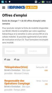 Brink's Le Billet screenshot 4