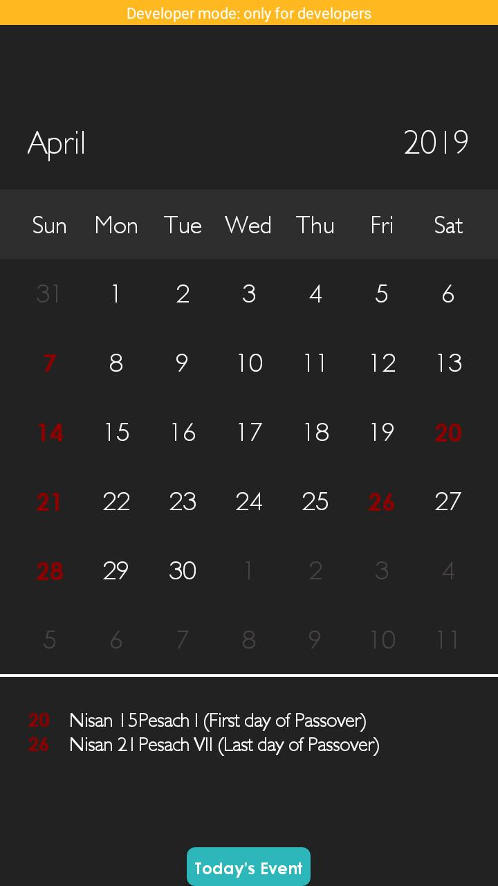 Israel Calendar for Android - APK Download