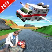 Flying City Ambulance Simulator 2019 icon