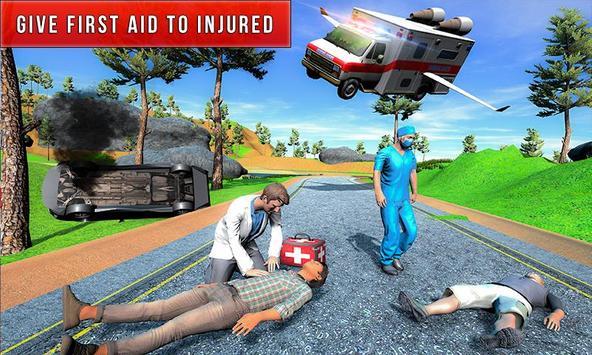 Flying City Ambulance Simulator 2019 poster