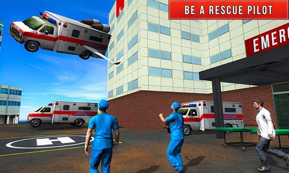Flying City Ambulance Simulator 2019 screenshot 1
