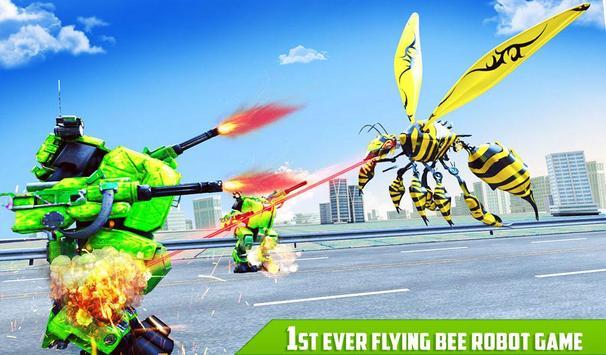 Flying Bee Transform Robot War screenshot 11