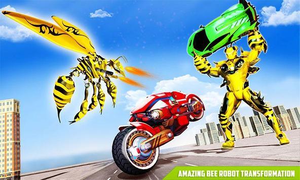 Flying Bee Transform Robot War screenshot 1