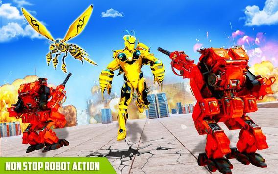 Flying Bee Transform Robot War screenshot 4