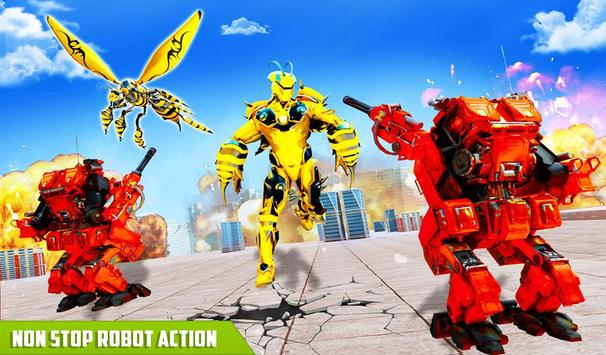 Flying Bee Transform Robot War screenshot 8