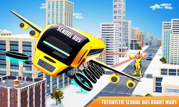 Flying School Bus poster
